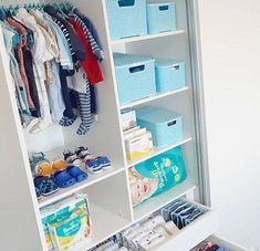 Baby Room Organization Bedrooms Dressers 59 Ideas For 2020 Baby Nursery Closet, Baby Boy Rooms, Baby Bedroom, Closet Bedroom, Baby Room Decor, Baby Boy Nurseries, Baby Room Storage, Baby Nursery Organization, Closet Organization