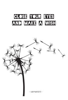 Close your eyes and make a wish
