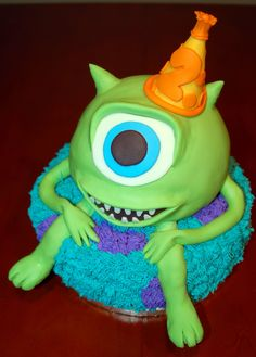 Mike Wazowski Cake by Sweeter Than The Rest in Orlando, FL