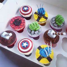 Beanie's Bakery - Marvel Birthday Cupcakes