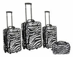 Zebra design Four Piece Luggage Set - http://internet-action.net/store/products/zebra-design-four-piece-luggage-set/