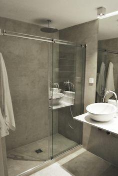 #Baño #moderno #decoracion via @planreforma #sanitarios #techo #revestimiento #microcemento #suelos