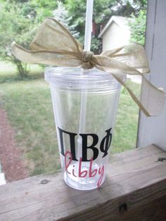 Sorority Greek Letter Tumbler with Name