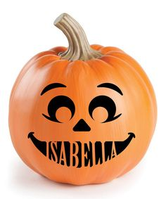 Loving this Personalized Pumpkin Face I Décor on #zulily! #zulilyfinds