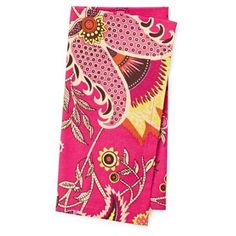 Check out this item at One Kings Lane! S/4 Floral Napkins, Fuchsia
