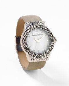 Textured Metal Watch - Simple elegance