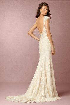 BHLDN Amalia Gown in  Bride Wedding Dresses Lace at BHLDN