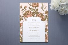Antonia Wedding Invitations by Dauphine Press | Minted