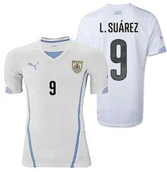 PUMA LUIS SUAREZ URUGUAY AWAY JERSEY FIFA WORLD CUP BRAZIL 2014