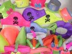 pack 100 tela fluo, tradicional y pulcera neon!!- oferta