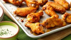 These wings pack a double punch with sassy flavors in the chicken coating and in the dipping sauce.
