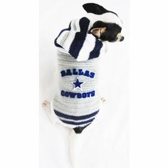 Dallas Cowboys Dog Hoodie Sweater Pet Clothing National Football League American Football Merchandise Pet Costume Handmade By Myknitt Dk940 Free Shipping -- Check this awesome image  : Costumes for dog