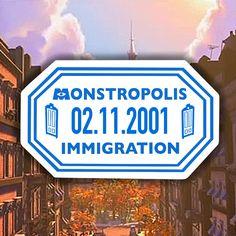 Monstropolis Inspired Clear Passport Sticker