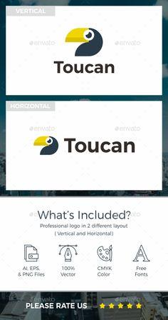 Toucan #Logo - Animals Logo Templates