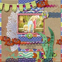 """Looking at Koi"" by javamonster, as seen in the Club CK Idea Galleries. #scrapbook #scrapbooking #creatingkeepsakes"