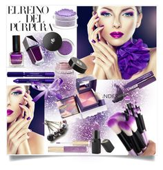 """""""EL REINO DEL PÚRPURA!!!"""" by kskafida ❤ liked on Polyvore featuring beauty, By Terry, GUiSHEM, Givenchy, Barry M, Benefit and Lancôme"""