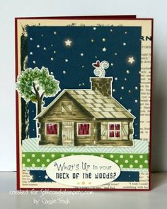 Cozy Cabin by CassieT - Cards and Paper Crafts at Splitcoaststampers