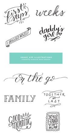 Hand Lettering ideas: I love ALL of these!