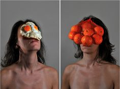 Food On Face:  Emanuela Franchinis unique series of self portraits