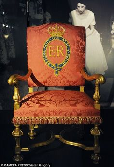 The chair that the Queen would have sat in Westminster Abbey during her Coronation on display this summer at Buckingham Palace
