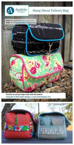 Here is a very simple yet functional toiletry bag, named the Hang About Toiletry Bag. The great thing about this toiletry bag is it is unisex, perfect for both men and women and the PDF downloadable pattern comes in two sizes, small and large. The bag has