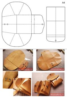 Leather Bag Tutorial, Leather Wallet Pattern, Handmade Leather Wallet, Leather Gifts, Leather Craft, Purse Patterns, Sewing Patterns, Crea Cuir, Diy Sac