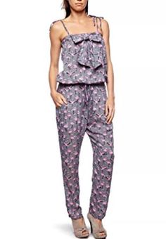 16c1ab40b7dd Yumi BLACK Pink Flamingo Jumpsuit M 14  fashion  clothing  shoes   accessories  womensclothing  jumpsuitsrompers (ebay link)