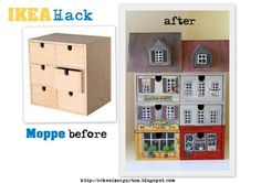 A Swiss Garden Ikea Hack Moppe before after DIY Source by nane Cute Crafts, Diy And Crafts, Diy Projects Using Wood, Before And After Diy, Paper Houses, Ikea Furniture, Little Houses, Wood Crafts, Home Decor