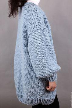 Кофты и свитера ручной работы. Вязаный кардиган оверсайз/oversize балон из толстой пряжи