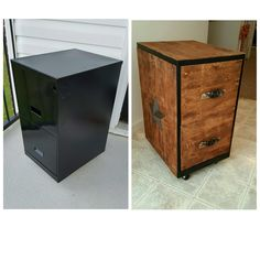 Before and after filing cabinet