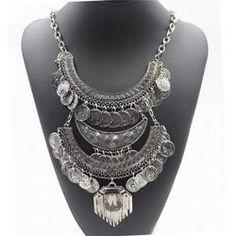 Boho Vintage Ethnic Statement Necklace