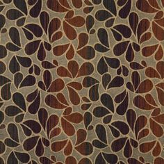 Caramel Brown and Burgundy Leaf Silhouette Stripe Abstract Chenille Upholstery Fabric Leaf Silhouette, Caramel Brown, Discount Designer, Blue Gold, Green Colors, Animal Print Rug, Burgundy, Yard, Upholstery Fabrics
