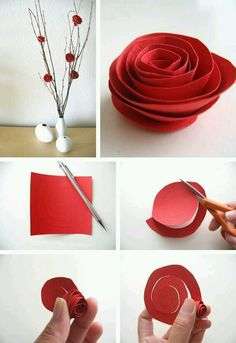 How to make paper flower for mother day