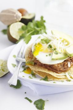 Breakfast Tostada -- Enjoy with America's #1 meat spread - underwoodspreads.com #breakfast #lunch