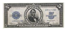 five dollar silver certificate 5 Dollar Bill, Money Notes, Coin Market, Silver Certificate, Coin Values, Old Money, Gold Bullion, World Coins, Rare Coins