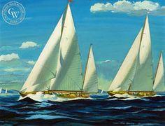 Yacht Race, 1945 by Hardie Gramatky