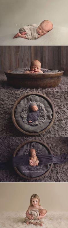 Des Moines, Iowa newborn photographer, Darcy Milder | His & Hers #newbornbabyphotography