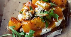 This Roasted Pumpkin, Cheese and Arugula Bruschetta is the perfect autumn appetizer. This Roasted Pumpkin, Cheese and Arugula Bruschetta is the perfect autumn appetizer. Vegetarian Recipes, Cooking Recipes, Bread Recipes, Cooking Tips, Roast Pumpkin, Baked Pumpkin, Pumpkin Pizza, Cheese Pumpkin, Pumpkin Recipes