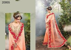 Saree Wedding Indian Dress Pakistani Partywear Bollywood Ethnic Sari Designer #TanishiFashion #DesignerSaree
