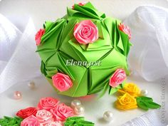 Master class, Charm, Feng Shui Quilling, Kusudama, Origami, Origami modular: Enrica Kusudama Paper on March 8, Mother's Day, Birthday, Family Day, Easter.  Photo 1