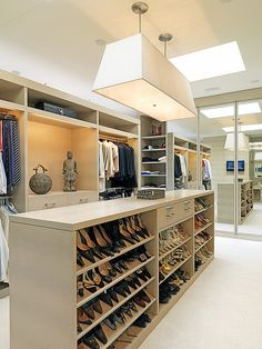 master closet...perfect for all my shoes