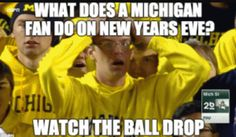 Michigan was leading with seconds left and all they had to do was punt the ball, but the Michigan punter dropped the ball and lost the game.