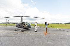 Daniel pops the question to Nia in front of a helicopter at Kissimmee, Florida's MaxFlight helicopters Proposal Photography, Marriage Proposals, Orlando Florida, Helicopters, Fighter Jets, Travel, Viajes, Destinations, Orlando