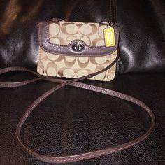 Coach cross body bag Authentic coach cross body bag like new fits iPhone 5 . Coach Bags Crossbody Bags