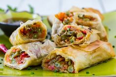 Our version is both satisfyingly crunchy and truly healthy, as we have filled our healthy spring rolls with vegetables and baked them to crispy perfection.