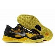 Nike Zoom Kobe VIII Mens Basketball Shoes Black Yellow Grey $89.90 http://www.blackgoto.com/nike+zoom/