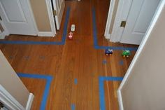 Painter's Tape Road!  Awesome!