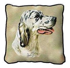 English Setter Pillow $27.00 Dog Lover Gifts, Dog Lovers, Dog Calendar, English Pointer, Hunting Dogs, English Setters, Pet Dogs, Dog Breeds, Moose Art