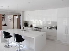 elegant backsplashes for white kitchens - Google Search