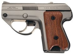 American Derringer Semmerling LM4 .45acp pistol.  Because .45acp is too powerful for a standard blowback semi-auto pistol, it was single shot only with the user having to work the slide to chamber each round. It has a five round magazine.